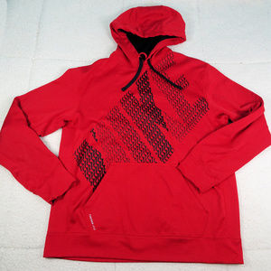 Nike Therma-Fit Red LG NIKE Front Hoodie Large